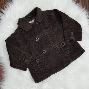 Joe Fresh | Baby Corduroy Pea Coat Brown 12-18 Mon
